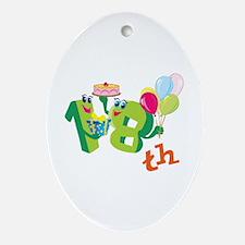18th Celebration Ornament (Oval)