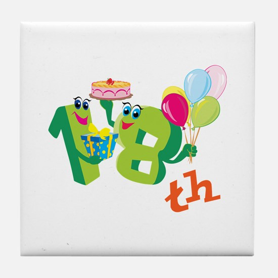18th Celebration Tile Coaster