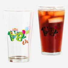 18th Celebration Drinking Glass
