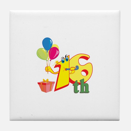 16th Celebration Tile Coaster