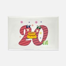 20th Celebration Rectangle Magnet