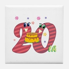 20th Celebration Tile Coaster