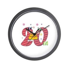 20th Celebration Wall Clock