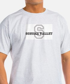 Sonoma Valley (Big Letter) Ash Grey T-Shirt