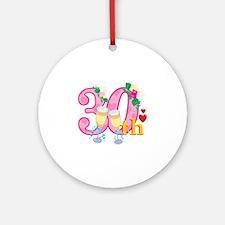 30th Celebration Ornament (Round)