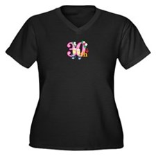 30th Celebration Women's Plus Size V-Neck Dark T-S