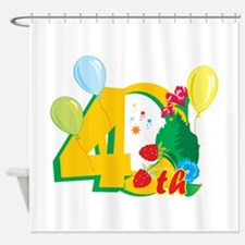 40th Celebration Shower Curtain