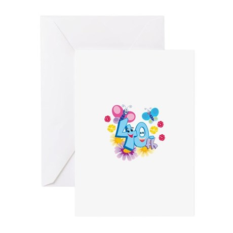 40th Celebration Greeting Cards (Pk of 10)