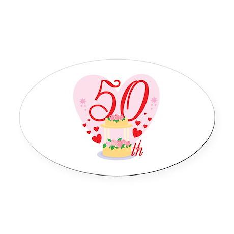 50th Celebration Oval Car Magnet