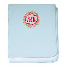 50th Celebration baby blanket