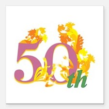 "50th Celebration Square Car Magnet 3"" x 3"""