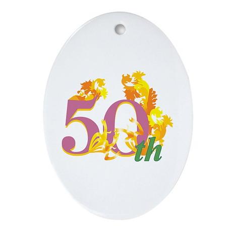 50th Celebration Ornament (Oval)