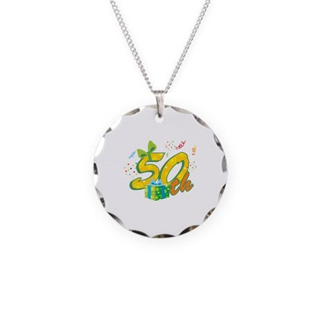 50th Celebration Necklace Circle Charm