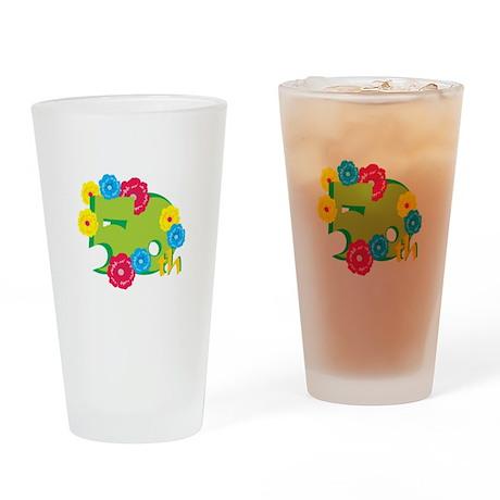 50th Celebration Drinking Glass