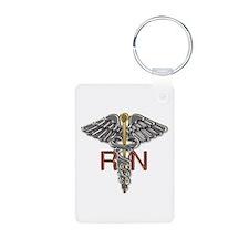RN Medical Symbol Aluminum Photo Keychain