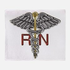 RN Medical Symbol Throw Blanket