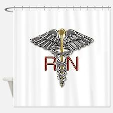 RN Medical Symbol Shower Curtain