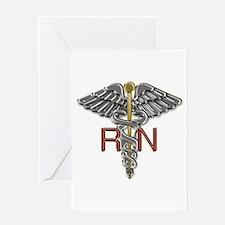 RN Medical Symbol Greeting Card