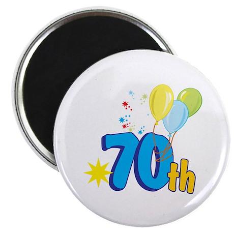 "70th Celebration 2.25"" Magnet (10 pack)"