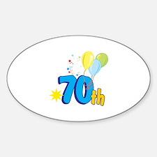 70th Celebration Decal