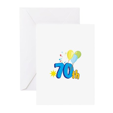 70th Celebration Greeting Cards (Pk of 10)
