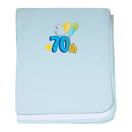 70th Celebration baby blanket