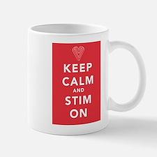 Keep Calm and Stim On (red) Mug