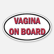 Oval Vagina Sticker Decal