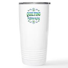 Quilting Brightens Travel Mug