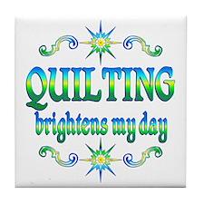 Quilting Brightens Tile Coaster