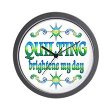 Quilting Brightens Wall Clock