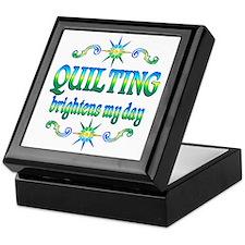 Quilting Brightens Keepsake Box