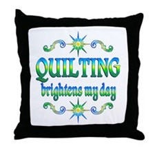 Quilting Brightens Throw Pillow