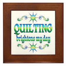 Quilting Brightens Framed Tile