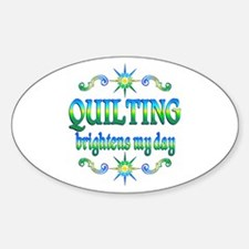Quilting Brightens Stickers