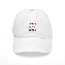 Peace Love Beets Baseball Cap