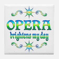 Opera Brightens Tile Coaster