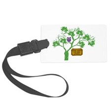 Cancer Doesn't Live Tree Owl Luggage Tag
