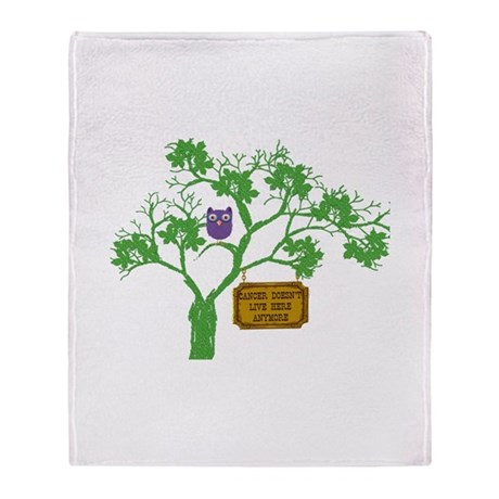 Cancer Doesn T Live Tree Owl Throw Blanket By Laststopshop