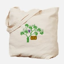 Cancer Doesn't Live Tree Owl Tote Bag