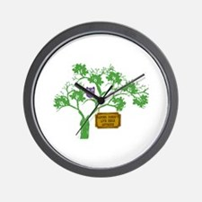 Cancer Doesn't Live Tree Owl Wall Clock