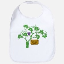 Cancer Doesn't Live Tree Owl Bib