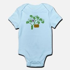 Cancer Doesn't Live Tree Owl Infant Bodysuit