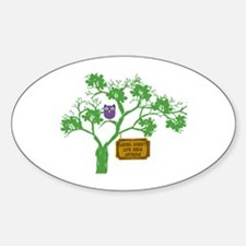 Cancer Doesn't Live Tree Owl Decal