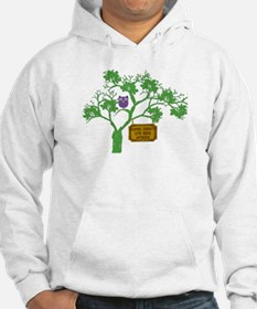 Cancer Doesn't Live Tree Owl Hoodie