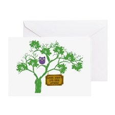 Cancer Doesn't Live Tree Owl Greeting Card