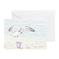 Sea Gull Sketch Greeting Card