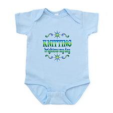 Knitting Brightens Infant Bodysuit