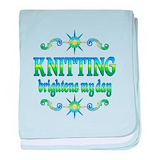 Knitting Brightens baby blanket