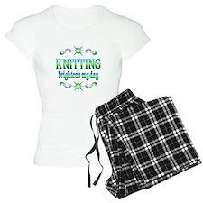 Knitting Brightens pajamas